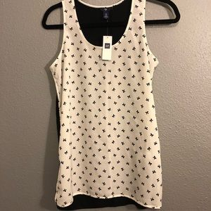 NWT GAP XS TANK TOP WITH BOWTIES